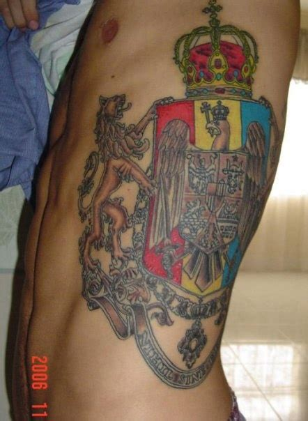 coat of arms on side tattoos ink