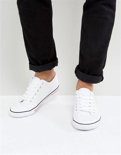 Asos Lace Up Plimsolls In White asos asos lace up plimsolls in white