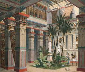 Lea Bedroom Furniture print of the interior of an ancient egyptian palace by