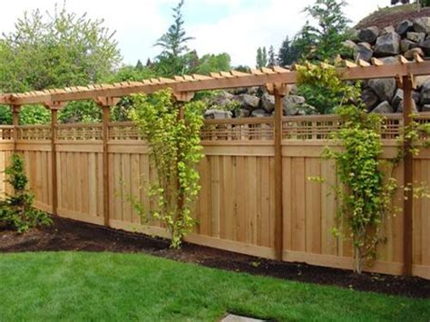 backyard fence styles cheap outdoor light pergola with privacy wall pergola