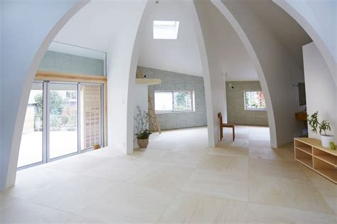japanese dome house open concept japanese family home with domed interior