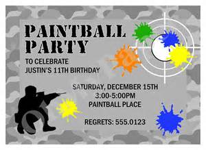 paintball invitations by ohmypaperllc on etsy