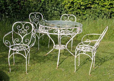 traditional vintage metal outdoor furniture modern