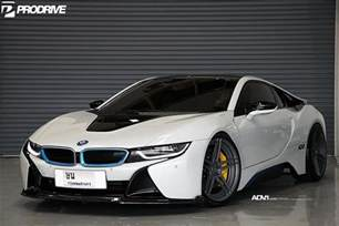 Bmw I8 Hybrid Pearl White Bmw I8 With Adv 1 Wheels And