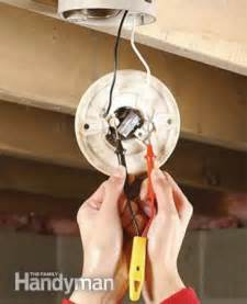 Remove Bathroom Light Fixture - how to replace a pull chain light fixture the family handyman