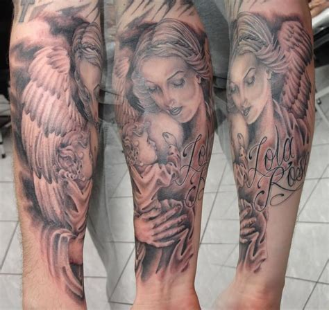 angel tattoos sleeves designs guardian tattoos our top 20 favourite designs