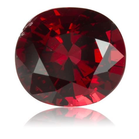 red gem burmese red spinel oval 3 24ct king stone gems