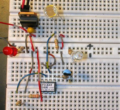 resistor on breadboard pin cds cells photoresistors ldr light dependent resistor on