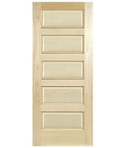 Clear Maple 5 Panel Equal Raised Stain Grade Solid Core Maple Interior Door