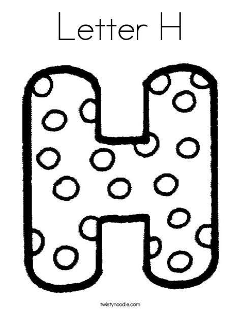coloring pages for letter h letter h coloring page twisty noodle