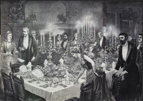 History Of Dining Room Etiquette Dinner 19th Century Modern