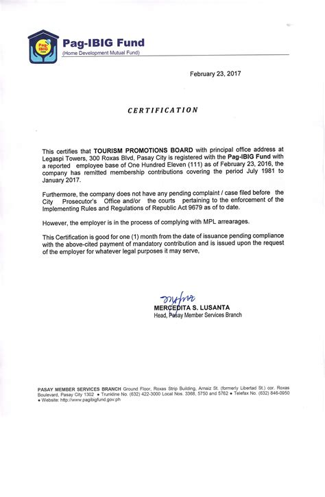 certification letter for philhealth how to generate an employee government certificate of
