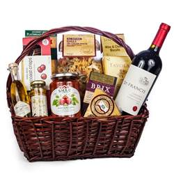 Italian Gift Baskets Italian Evening Gift Basket Wine And Champagne Gifts By San Francisco Gift Baskets