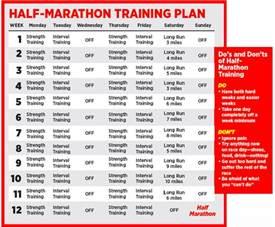half marathon plan that helps you lose weight