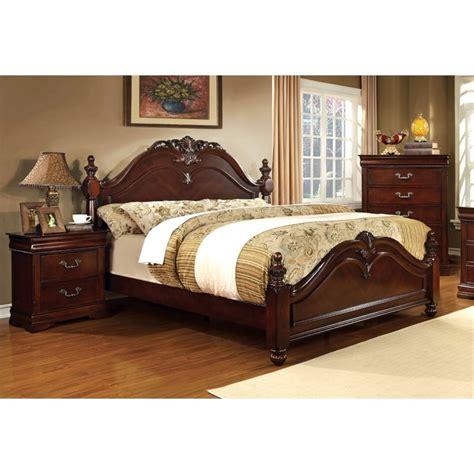 panel bedroom sets furniture of america noren 3 piece king panel bedroom set