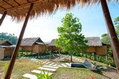 rabbit island cambodia bungalows bamboo bungalows in rabbit island cambodia stock photo