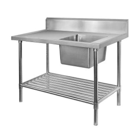 stainless steel kitchen benches simply stainless stainless steel single sink bench with