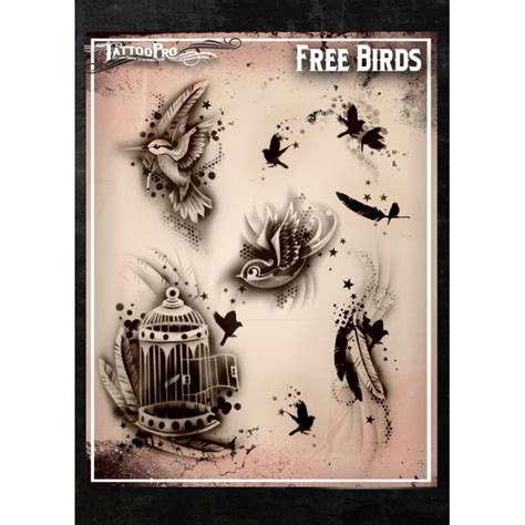 airbrush tattoo pro stencil free birds