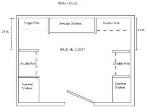walk in closet floor plans closet shelving layout