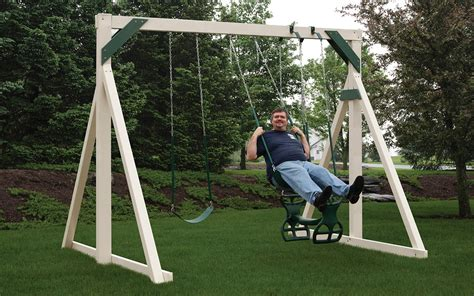 swing set handcrafted swing sets playsets pine creek structures
