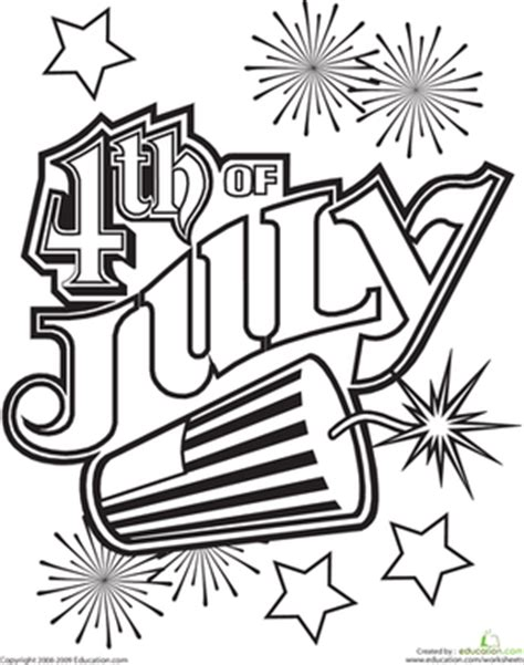 4th of july coloring page education com