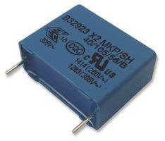 polypropylene capacitor farnell b32923c3105m000 epcos capacitor 1 uf x2 b32923c series 305 v pp polypropylene
