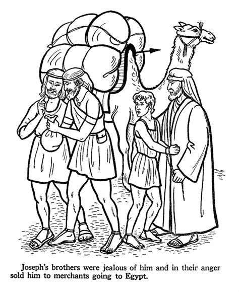printable bible coloring pages joseph joseph sold by his brothers genesis 37 coloring bible