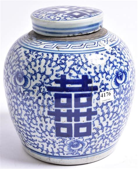 what are ginger jars a blue white ginger jar