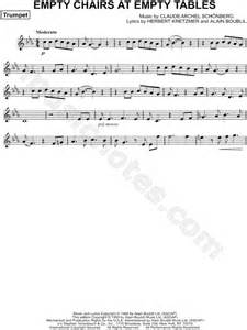 Lyrics To Empty Chairs And Empty Tables by Quot Empty Chairs At Empty Tables Quot From Les Mis 233 Rables Sheet