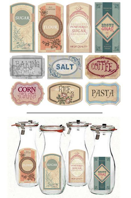 vintage farmhouse printable pantry labels printable decor