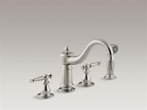 kohler white kitchen faucet kohler white kitchen faucet with spray
