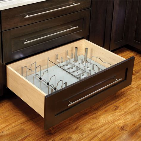 Kitchen Cabinets Organization by Rev A Shelf Vinyl Peg Board Drawer Organizer System With