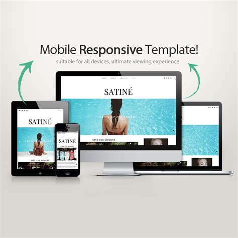 Blogger Template Satin 233 Blogger Templates Wordpress Themes Kotryna Bass Design Mobile Responsive Template
