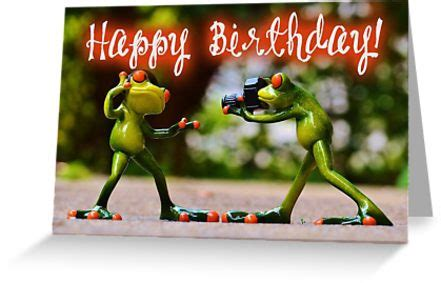 """""""happy birthday photographer"""" greeting cards by garigots"""