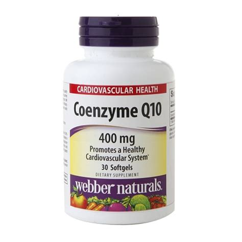 Suplemen Q10 webber naturals coenzyme q10 400mg softgels walgreens