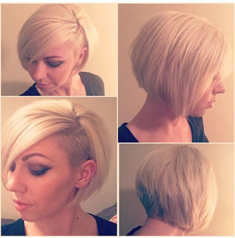 asymmetrical shaved bob asymmetrical undercut women s haircut undercut bob short