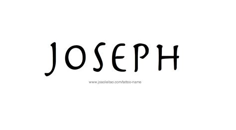 joseph tattoo joseph name designs