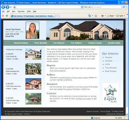relistive website home pages welcome your real estate