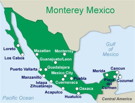 map of monterrey mexico monterrey map and monterrey satellite image