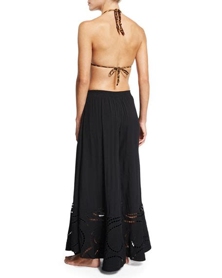 Wide Leg Embroidered vix peggy wide leg embroidered coverup