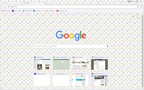 google chrome themes girly pretty pastel polka dots google chrome theme by sleepy
