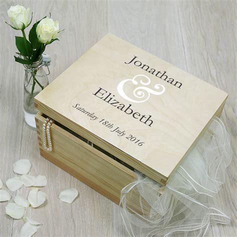 wedding keepsakes personalised wedding keepsake box by plantabox
