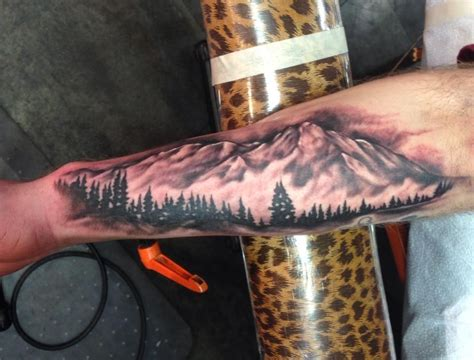 mountain scene tattoo designs mountain by fortier lucky 7