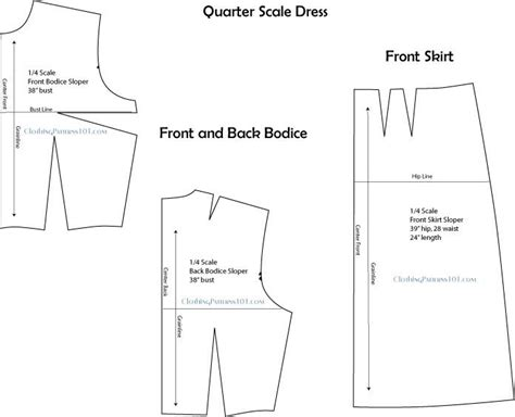 pattern drafting for dolls use quarter scale patterns for experimenting in fashion