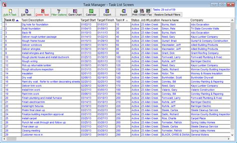 List Of Manager by Virtualboss Makes Management And Creation Of Your Punchlist And Schedule Simple