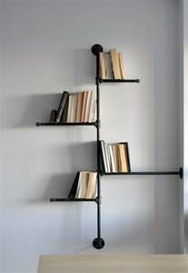 unique wall shelves interesting unusual wall shelves with unique black metal