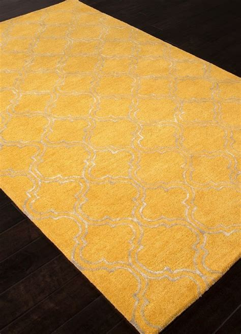 bright yellow rug contemporary baroque 5 x8 rectangle bright yellow area rug contemporary area rugs by rugpal