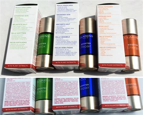 Clarins Booster Detox How To Use by Clarins Boosters Energy Repair And Detox Makeup4all