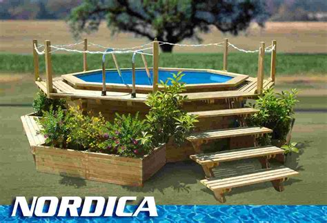 small round swimming pool for garden above ground with impressive image of backyard landscaping decoration using