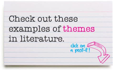 theme exles for books themes in literature exles